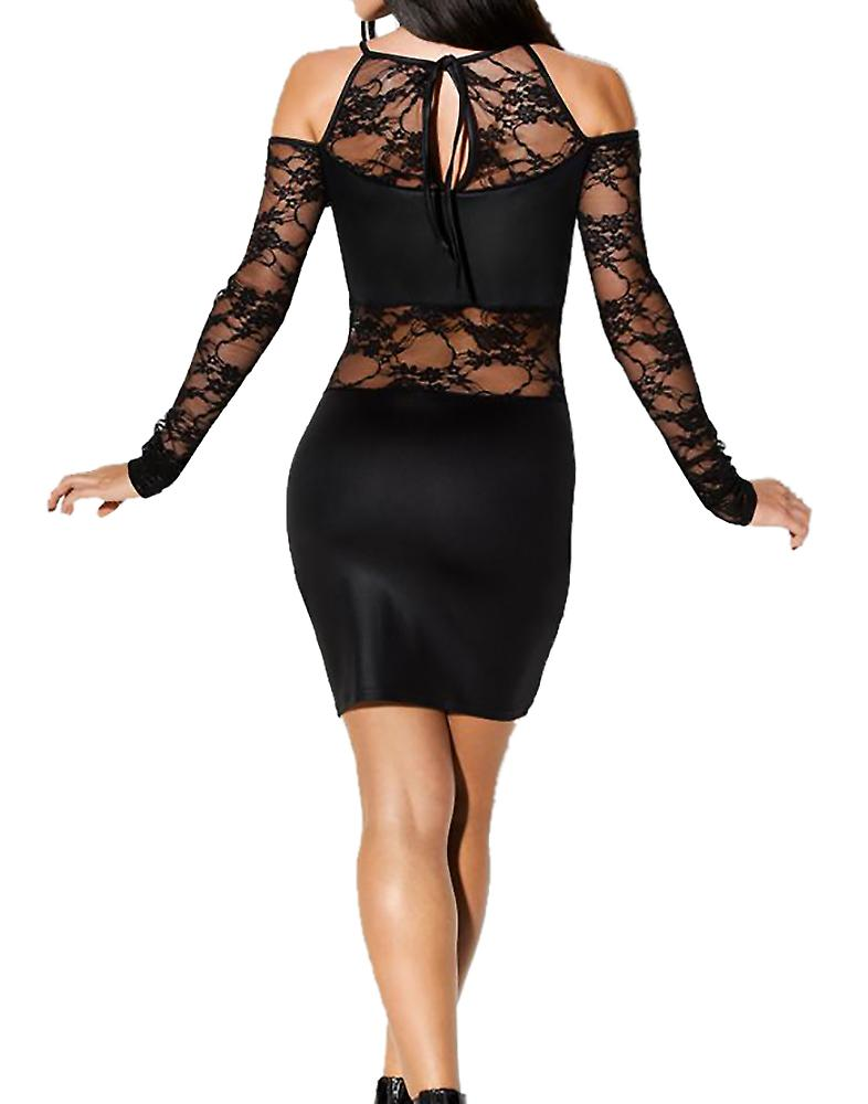Waooh - sexy short dress with lace Bay