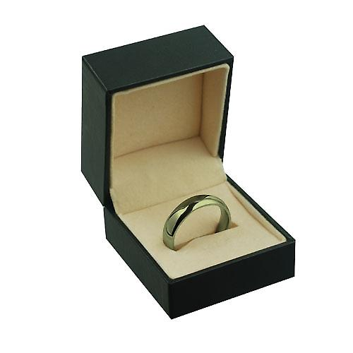 9ct Gold 6mm plain Court shaped Wedding Ring