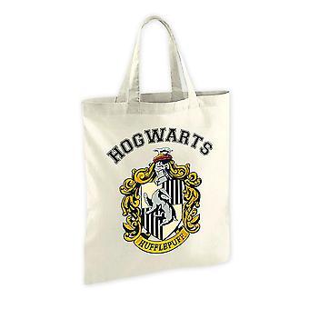 Bolso de tela de Harry Potter Hufflepuff cresta, impreso, 100% algodón.