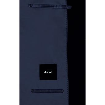 Dobell Mens Navy Suit Jacket Regular Fit Notch Lapel