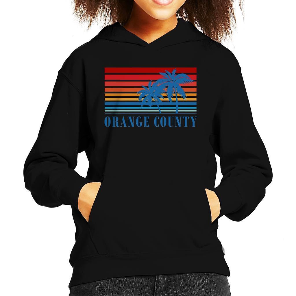 Orange County Retro jaren 70 zonsondergang Kid de Hooded Sweatshirt