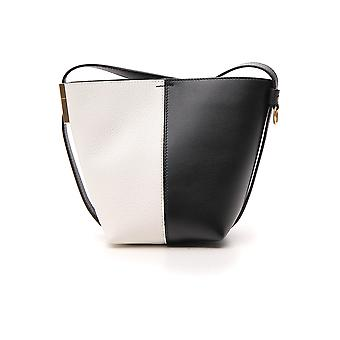 Givenchy White/black Leather Shoulder Bag