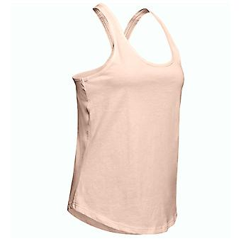 Under Armour Crossback Womens Ladies Fitness Training Vest Tank Pink