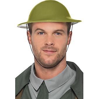 WW2 del casco del ejército británico Tommy accesorios carnaval ha