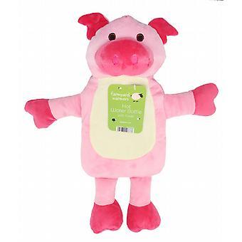 Farmyard Friends Novelty 1L Hot Water Bottle: Pig