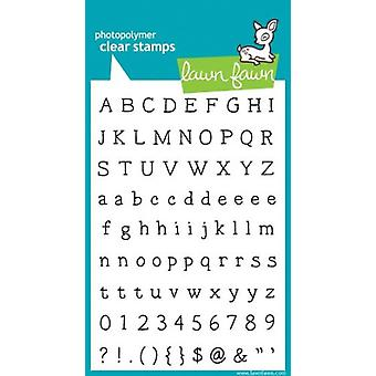 Lawn Fawn Clear Stamps Smitty's ABCs (LF321)