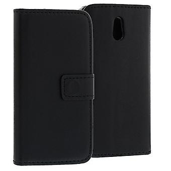 Wallet Case Sony Xperia P, art leather, black