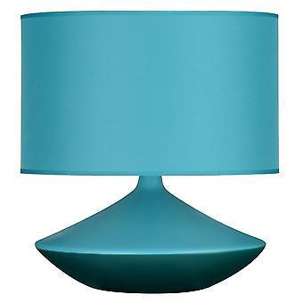 Premier Home Table Lamp, Ceramic, Fabric, Teal