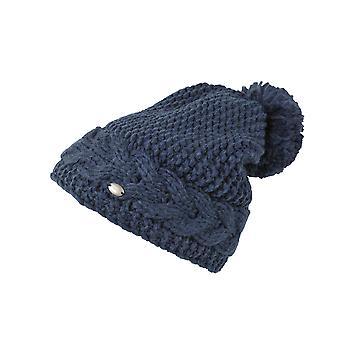 Pikeur Cable Knit Bobble Hat - Jean Melange