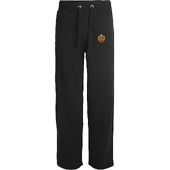 Duke Of Lancasters Regiment Veteran - Licensed British Army Embroidered Open Hem Sweatpants / Jogging Bottoms