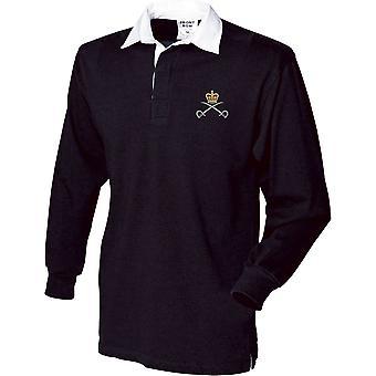 Exército real corpo de treinamento físico PTI-licenciado exército britânico bordado camisa de manga comprida Rugby