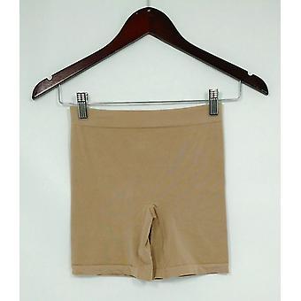 Breezies Panties Soft Knit Seamless Boyshort Style Beige