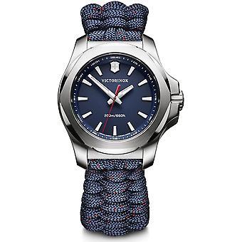 Victorinox I.N.O.X V Blue Paracord Silver Stainless Steel Quartz Dames Watch 241770