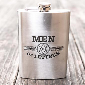 8oz men of letters flask l1