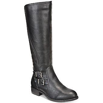 Stijl & Co. Womens Milah amandel teen knie hoge paardrijden laarzen