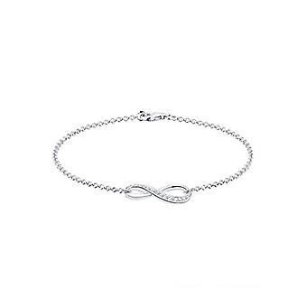 Elli Women's Bracelet in Silver 925 with White Brilliant Cubic Zirconia - Symbol of the'Infinite