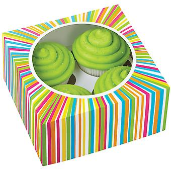 Cupcake Box 4 Cavity 3 Pkg Colorwheel 415 0814