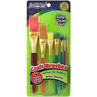 Craft Brushes 7 Pkg Assorted Sizes From Detail To Broad Pa1206