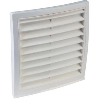 Vent grille PVC Suitable for pipe diameter: 125 mm Wallair Outer grid circular connector 125, m. window net, white