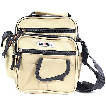 Handy Canvas Style Multi-Purpose Shoulder Bag / Cross Body Bag / Travel Bag ( Khaki )