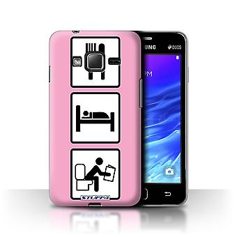 STUFF4 Case/Cover for Samsung Z1/Z130/Poop/Pink/Eat/Sleep