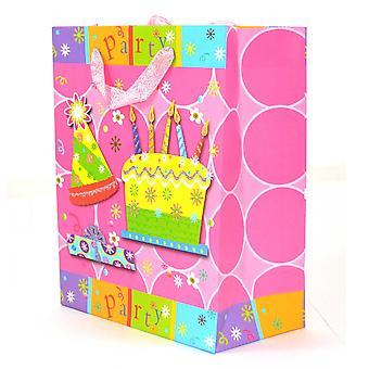 Bolsas de papel lujoso decorativas bolsas de regalo medio 1PK para Navidad cumpleaños boda