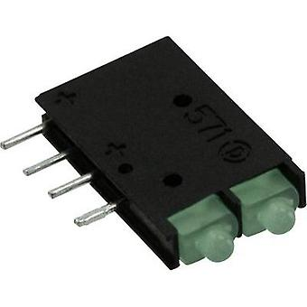 LED component Green (L x W x H) 15.24 x 11.61 x 2.5 mm Dialight