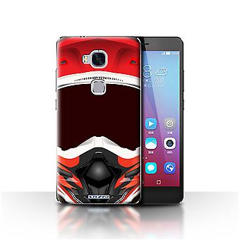 STUFF4 Case/Cover for Huawei Honor 5X/GR5/Motocross/Red/Motorcycle Helmet