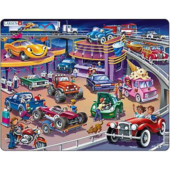 Larsen 58 Great Cars Puzzle Pieces (Toys , Boardgames , Puzzles)