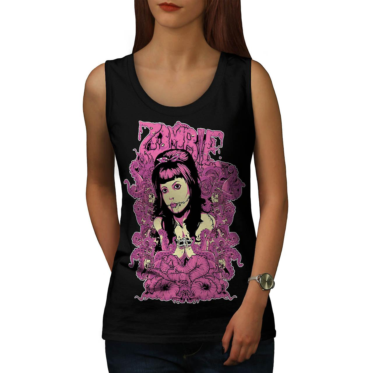 Zombie Royal Queen Toten Lady Lippe Frauen Tank-Top schwarz | Wellcoda