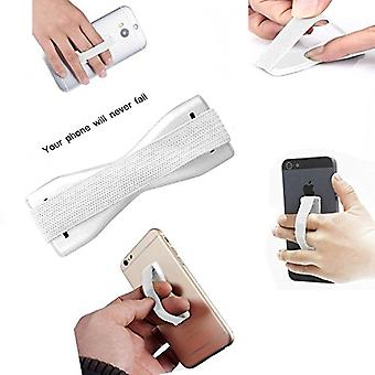 ONX3 (White) Asus Zenfone 2 ZE500CL Universal Anti-Slip Elastic Finger Mobile Phone Grip Holder With Strong Adhesive