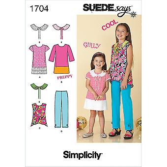 Simplicity Child Girl Sportswear-3-4-5-6 US1704HH
