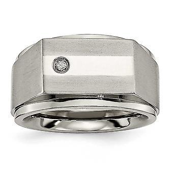 Titanio con anillo de diamantes - tamaño 9.5