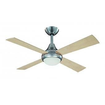 Ceiling fan Sigma brushed steel with lighting 107 cm / 42""