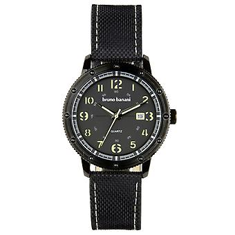 Bruno Banani watch wristwatch of GEROS leather analog BR30001