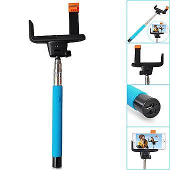 ONX3 (bleu) Huawei P10 universel Bluetooth Wireless Selfie Stick monopode déclencheur à distance intégré format de poche