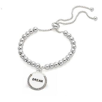 Jewel City Engraved Bracelet With Pendant Dream - Silver