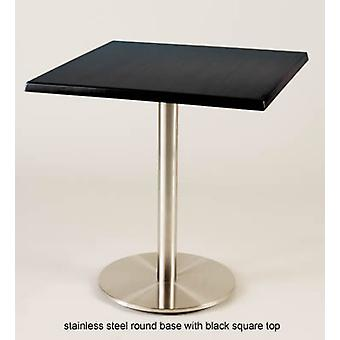 Tobi Kitchen Dining Table With Brushed Stainless Steel Frame And Base