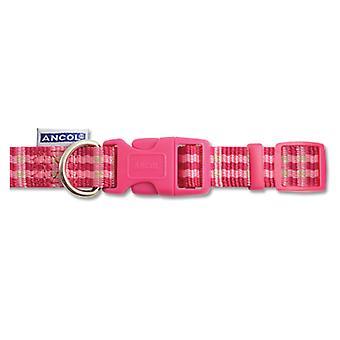 Indulgence Nylon Adjustable Collar Candy Check Pink 30-50cm Sz 2-5