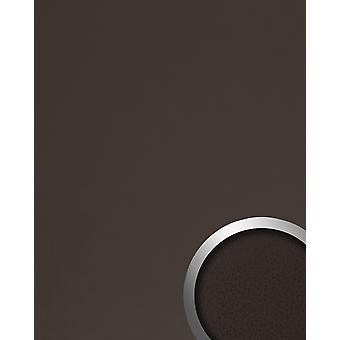 Wall covering leather optics WallFace 19025 LONDON CLAY wall panel smooth nappa leather optics matt self-adhesive Brown grey brown 2,6 m2