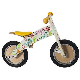 Kiddimoto Kurve- Bike Butterflies Wooden Balance Bike