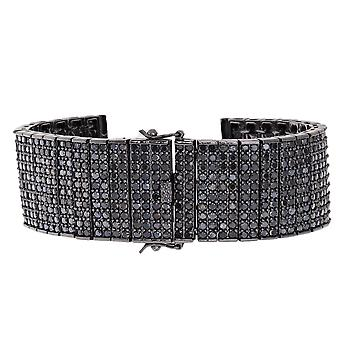 Iced out BLING watches bracelet - 10 ROWS all black
