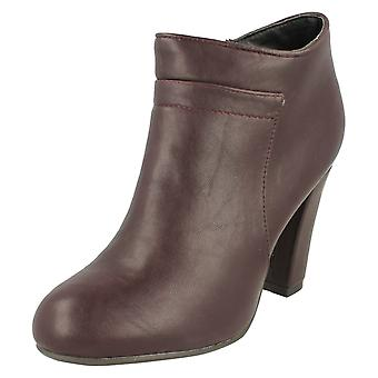 Ladies Spot On Heeled Ankle Boots F5949