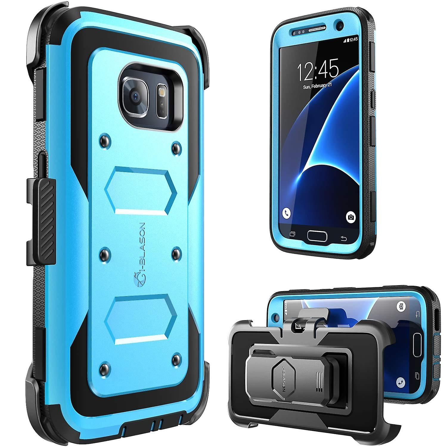 Galaxy S7 Case,Armorbox,i-Blason built in Screen Protector,for Samsung Galaxy S7 2016 Release-Blue