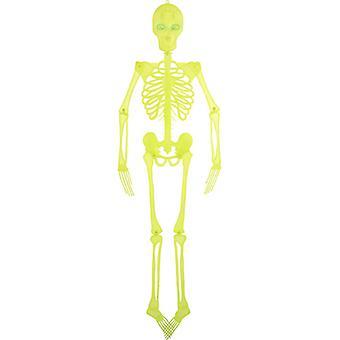 Leuchtskelett Deko Halloween 150cm mit Blinkaugen Skelett