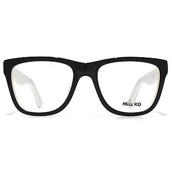 Miss KG Oversize Glasses In Black With White Interior