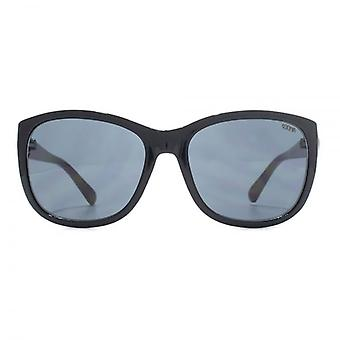 SUUNA Ruby Button Detail Sunglasses In Black Mink