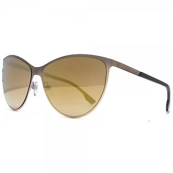 Diesel Metal Cateye Sunglasses In Shiny Light Bronze