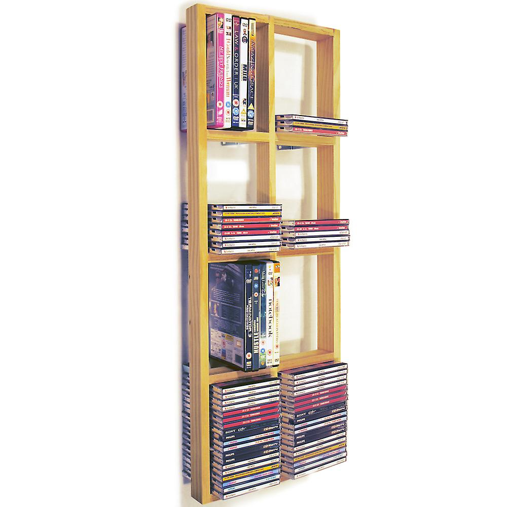 Iris - Double Wall 152 Cd / 64 Dvd / Blu Ray Storage Shelf - Natural