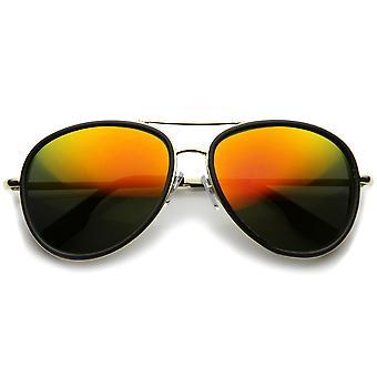UV400 संरक्षित दर्पण लेंस के साथ Mens एविएटर धूप का चश्मा